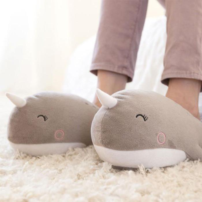 Narwhal USB Heated Slippers - - Smoko - Yellow Octopus