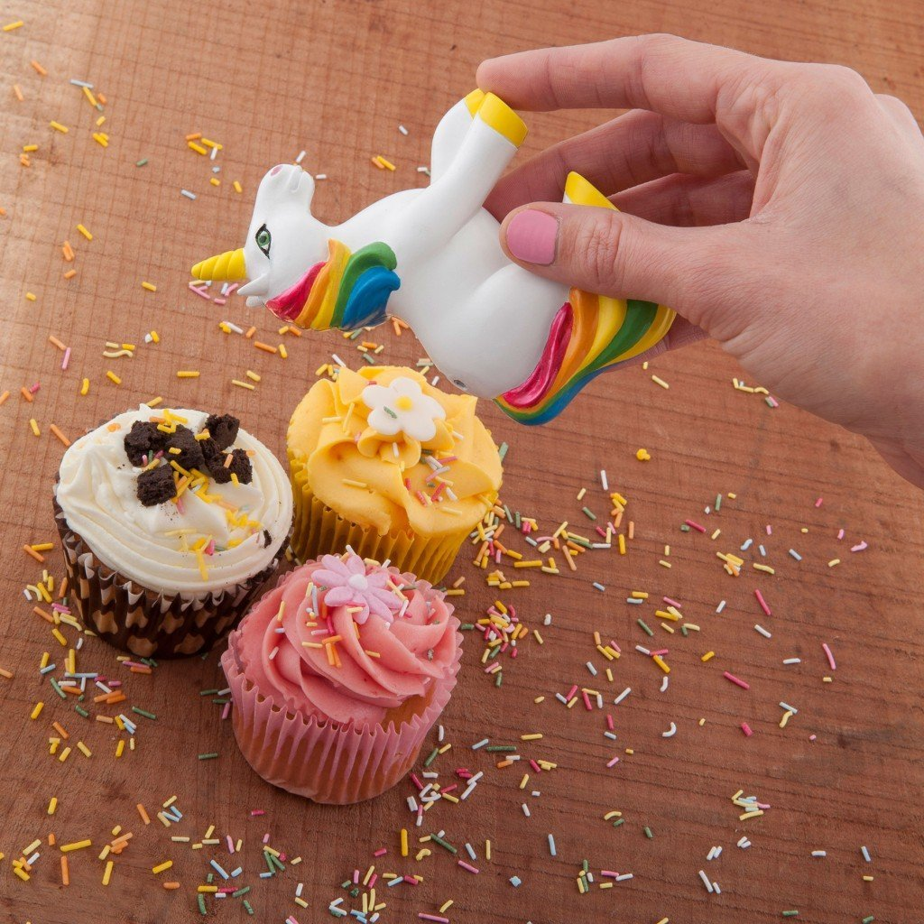 Unicorn Sprinkles Shaker - - Spinning Hat - Yellow Octopus