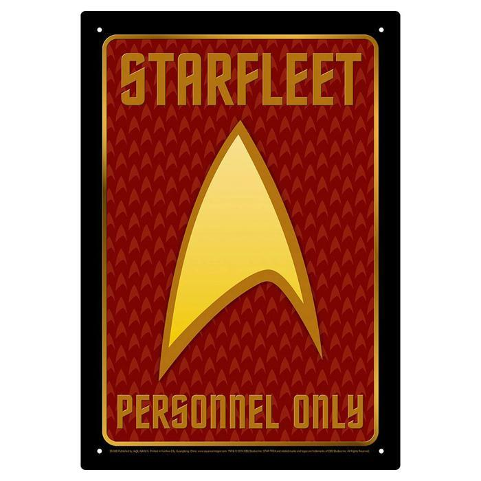 Star Trek: Starfleet Personnel Only Tin Sign - - Star Trek - Yellow Octopus