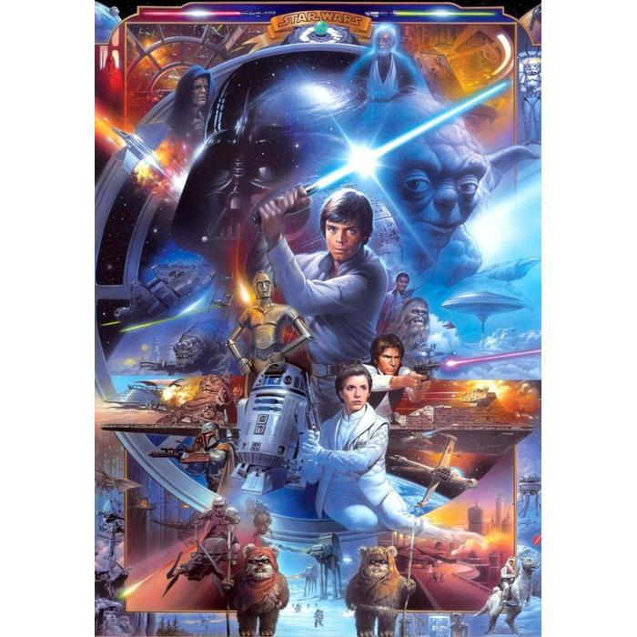 Star Wars 30th Anniversary Movie Collage Poster - - Star Wars - Yellow Octopus