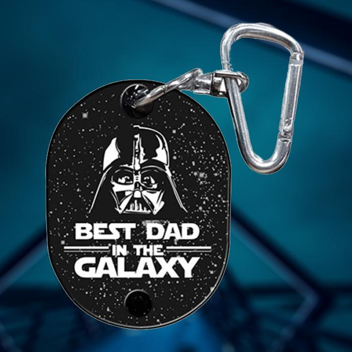 Star Wars Best Dad in the Galaxy Musical Keyring - - Star Wars - Yellow Octopus