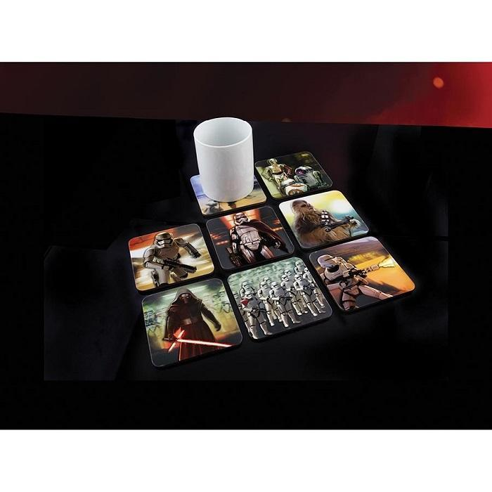 Star Wars Force Awakens 3D Drinks Coasters – Set Of 8 - - Star Wars - Yellow Octopus