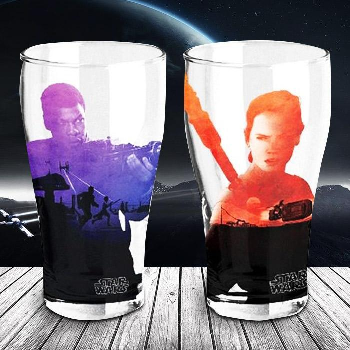 Star Wars Rey & Finn Glasses - Set Of Two - - Star Wars - Yellow Octopus