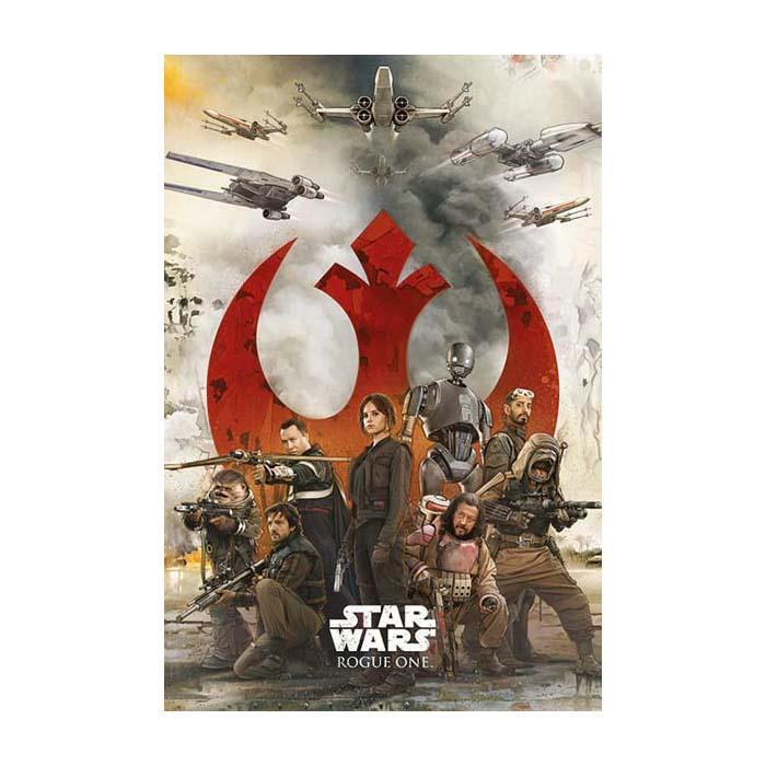 Star Wars Rogue One Rebels Poster - - Star Wars - Yellow Octopus