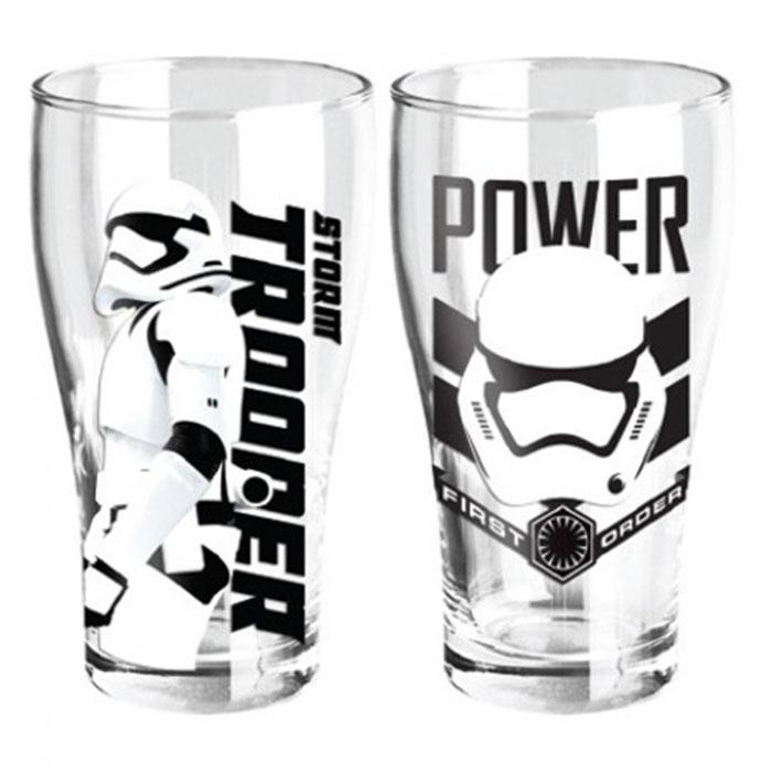 Star Wars Stormtrooper Set of 2 Glasses - - Star Wars - Yellow Octopus