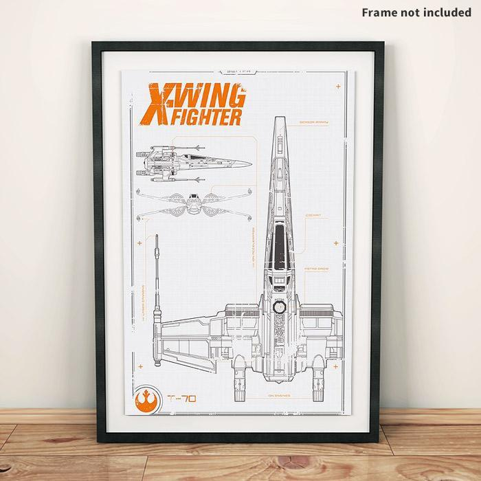 Official star wars t 70 x wing fighter blueprint plans wall poster star wars star wars t 70 x wing fighter blueprint poster 915 x 61cm malvernweather Gallery