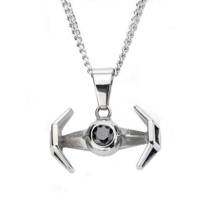 Star Wars TIE Fighter Stainless Steel Pendant Necklace - - Star Wars - Yellow Octopus