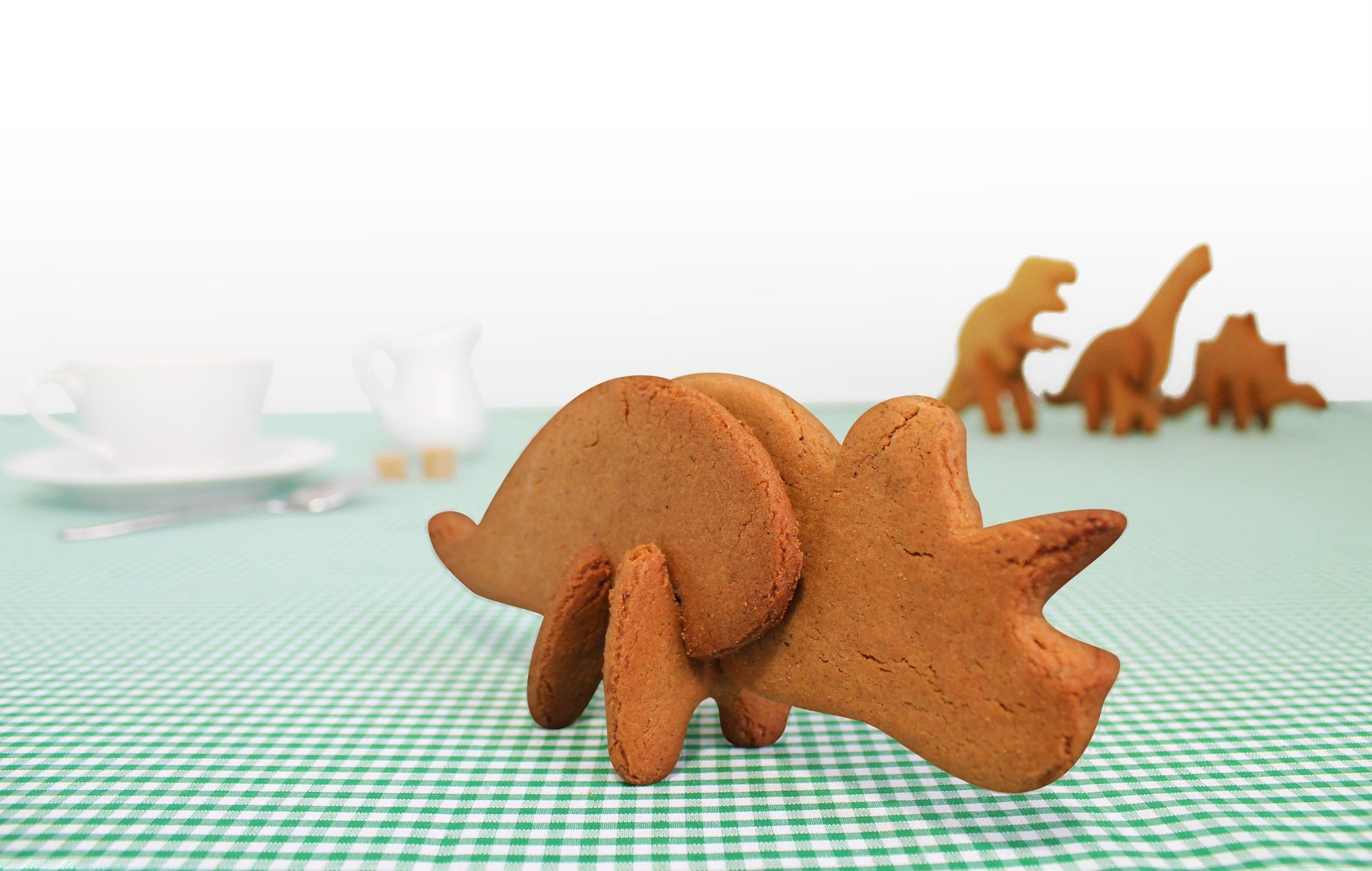 Dinosaur 3D Cookie Cutters | by Suck UK - Triceratops - SUCK UK - Yellow Octopus