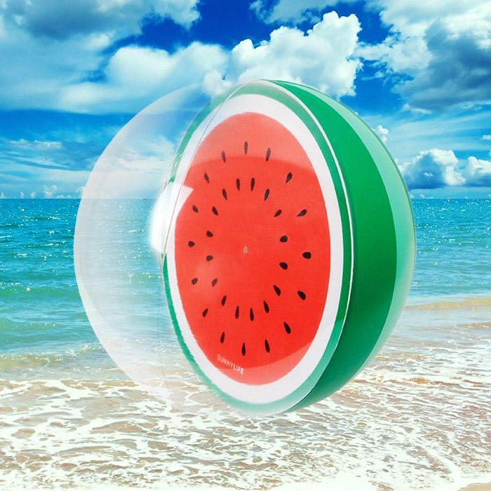 Inflatable watermelon beach ball sunnylife pool toy - Watermelon ball swimming pool game ...
