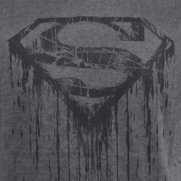 Superman DC Comics Dripping Superman Logo T-Shirt