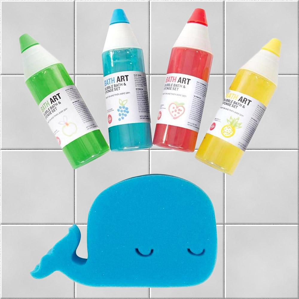 Fruit Scented Bath Paints & Whale Sponge