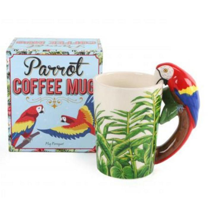 Parrot Coffee Mug - - Temerity Jones - Yellow Octopus
