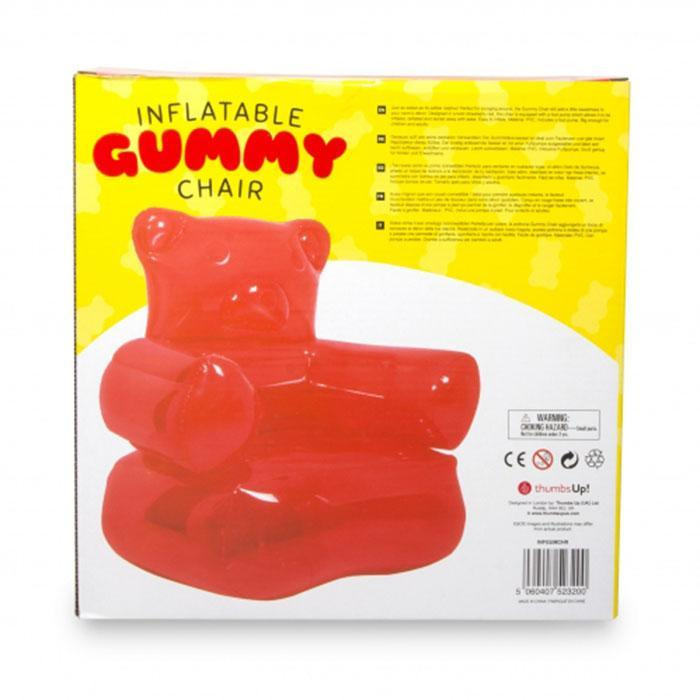 Inflatable Gummy Bear Armchair - - ThumbsUp! - Yellow Octopus