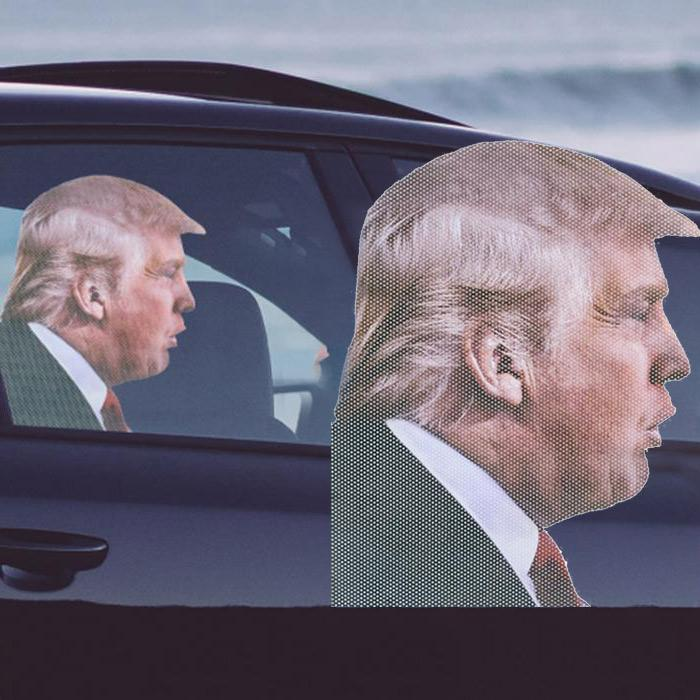 'Ride With' Novelty Car Window Decals - Trump - ThumbsUp! - Yellow Octopus