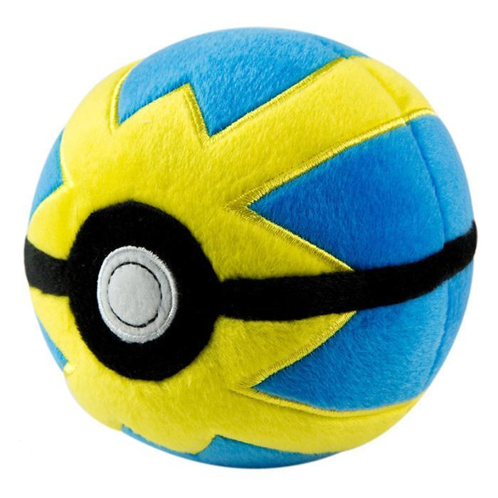 Official Pokémon Pokéballs Plush Toy - Quick Ball - Tomy - Yellow Octopus