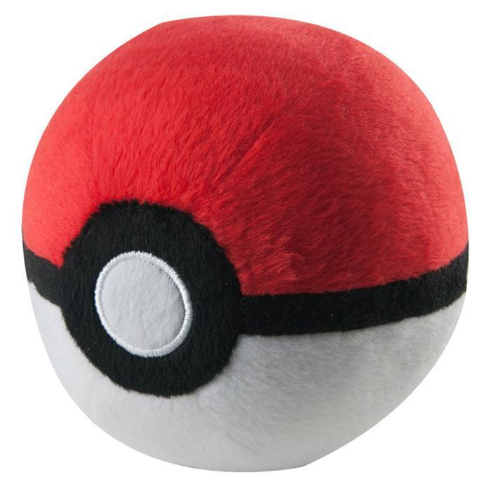 Official Pokémon Pokéballs Plush Toy - Standard Ball - Tomy - Yellow Octopus