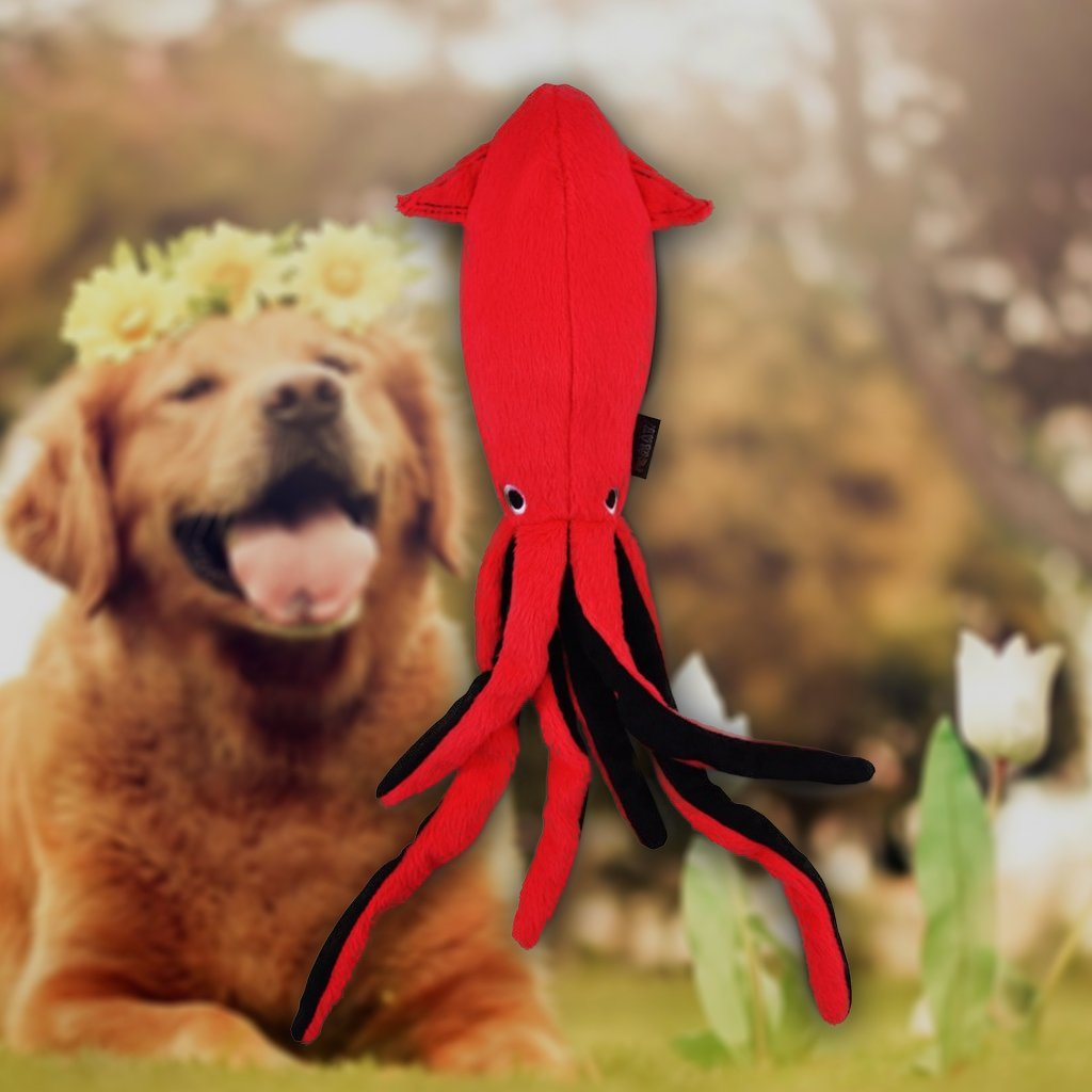 Squid Squeaker Eco-friendly Plush Dog Toy