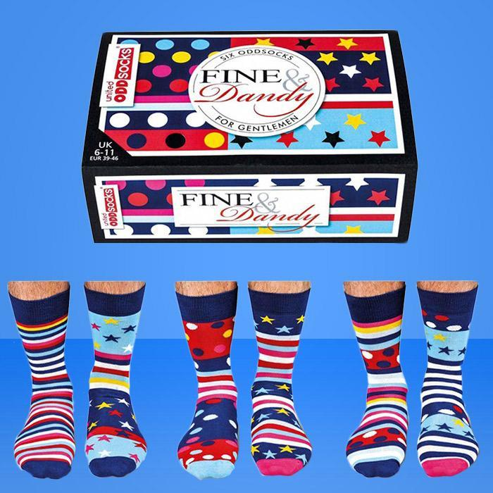 6 Fine & Dandy Odd Socks For Gentlemen - - United Odd Socks - Yellow Octopus