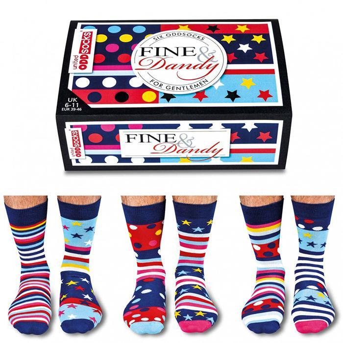 United Odd Socks 6 Fine & Dandy Odd Socks For Gentlemen