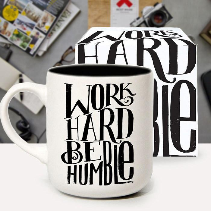 Urban Graphic Work Hard Be Humble Mug | by Matthew Taylor Wilson