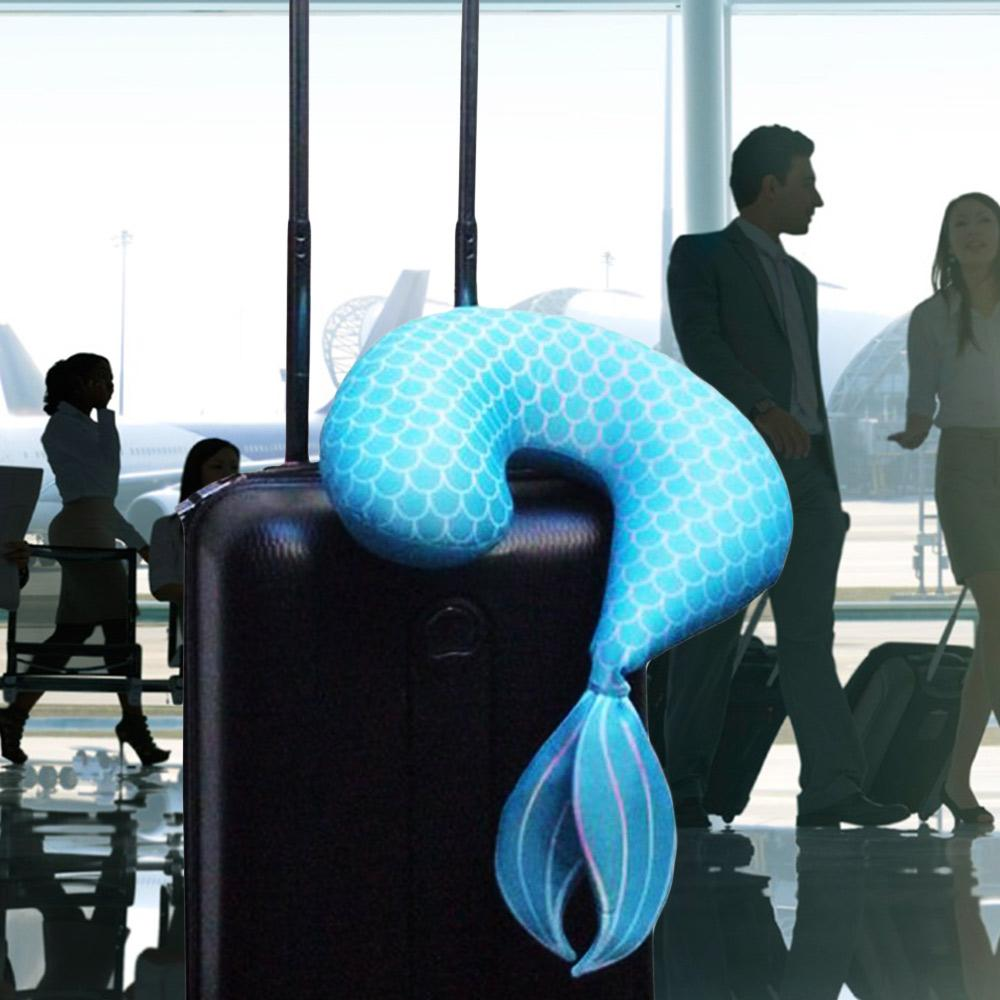 Mermaid Tail Travel Neck Pillow - - Bitten - Yellow Octopus