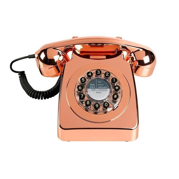 1960s Retro Style Desk Telephone Series 746 | Wild & Wolf - Copper - Wild & Wolf - Yellow Octopus