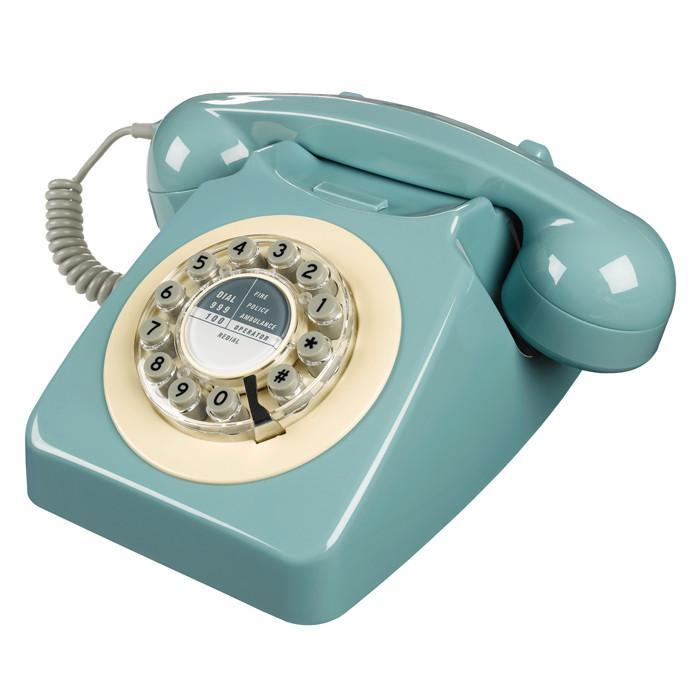 1960s Retro Style Desk Telephone Series 746 | Wild & Wolf - French Blue - Wild & Wolf - Yellow Octopus