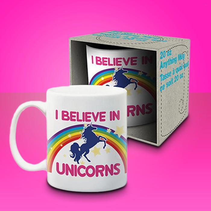 Jumbo I Believe in Unicorns Mug - - Buy Design Studios - Yellow Octopus