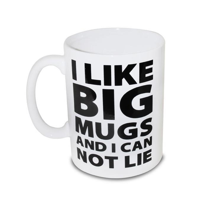 Gigantic I Like Big Mugs Novelty Mug - - BigMouth - Yellow Octopus