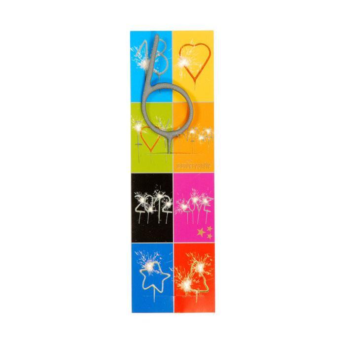 Wondercandle Shapes & Numbers Birthday Sparkler Candles 6