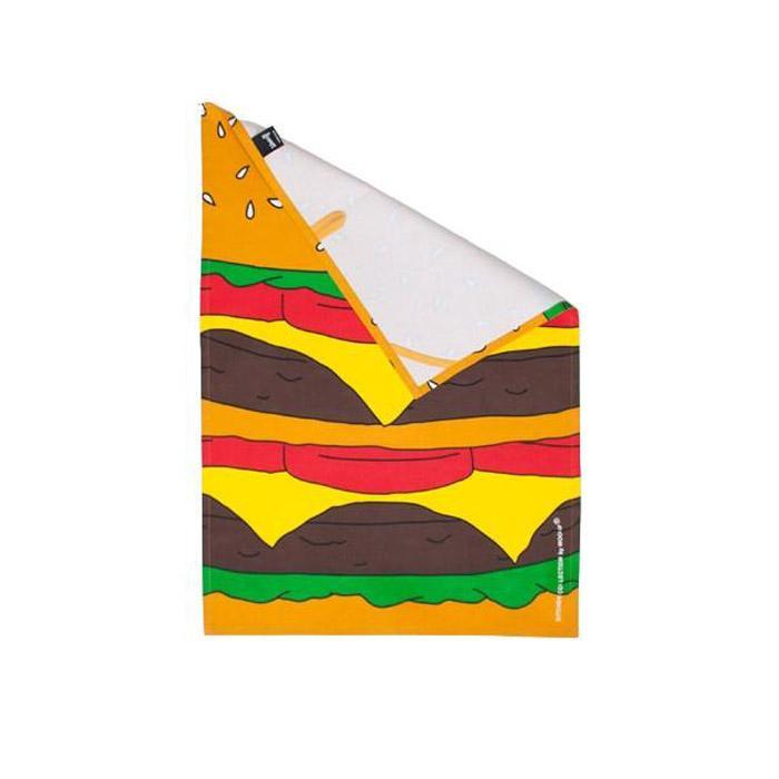 Woouf Burger Tea Towel - - Woouf - Yellow Octopus