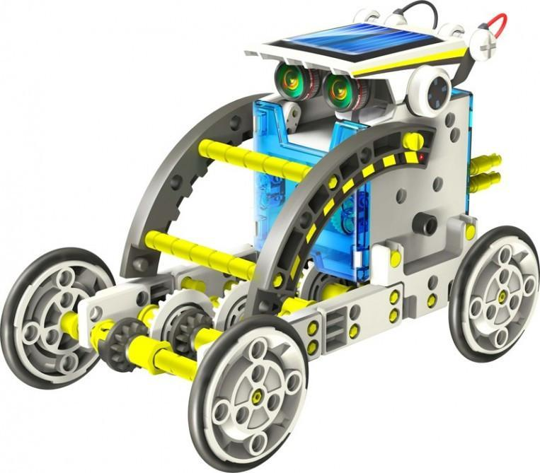 14-in-1 Solar Robot Construction Kit | 4M Kidz - - Yellow Octopus - Yellow Octopus