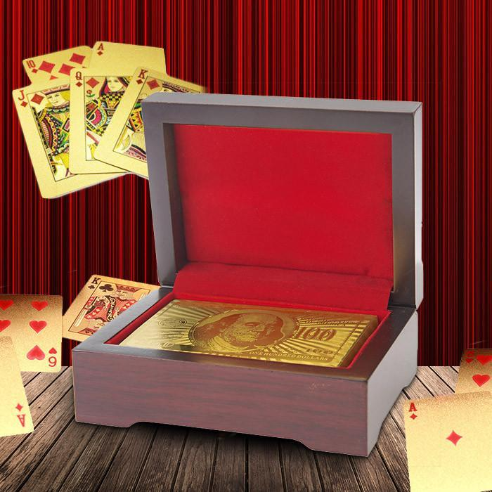 Yellow Octopus 24K Gold Plated Playing Cards