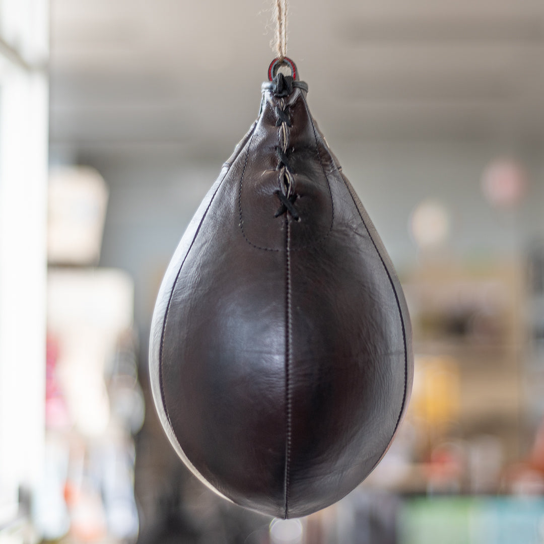 Vintage Style Leather Boxing Speed Bag