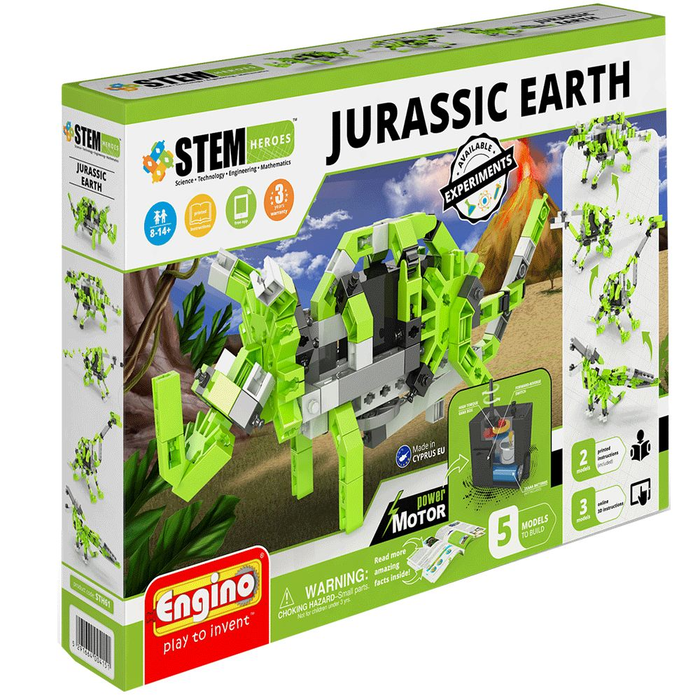 STEM Motorized Jurassic Earth Dinosaur Model Kit
