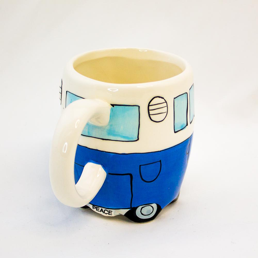 Kombi Campervan Mug - - Yellow Octopus - Yellow Octopus