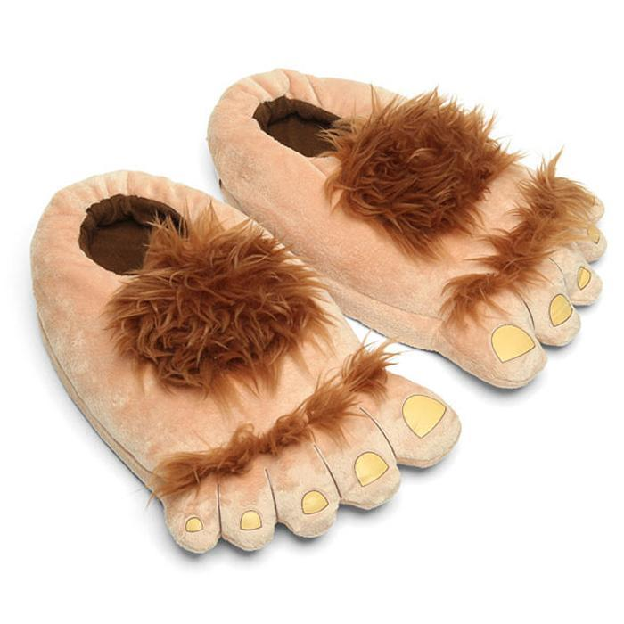 Yellow Octopus 'Big Foot' Slippers