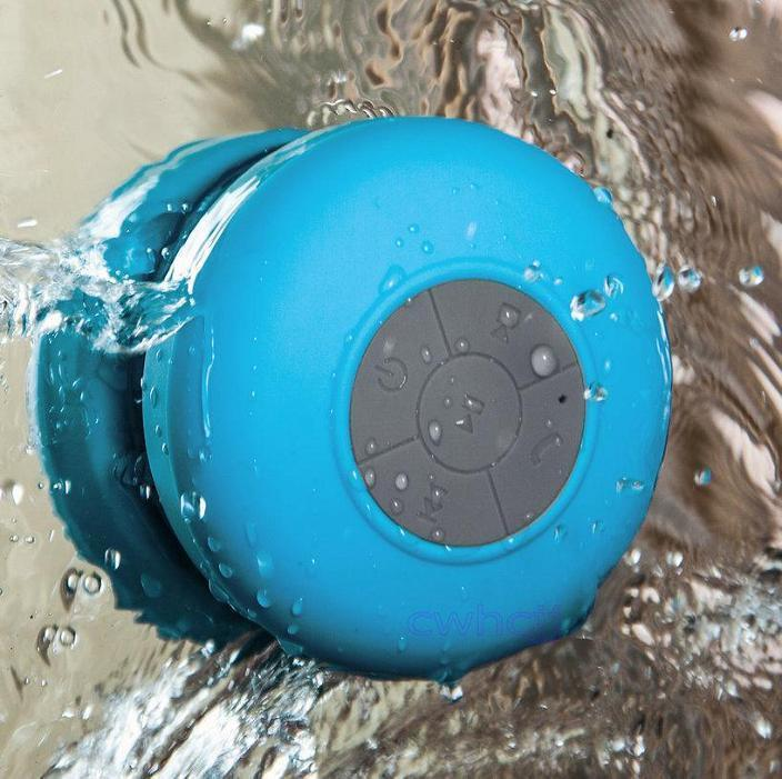 Yellow Octopus Bluetooth Wireless Shower Speaker Blue