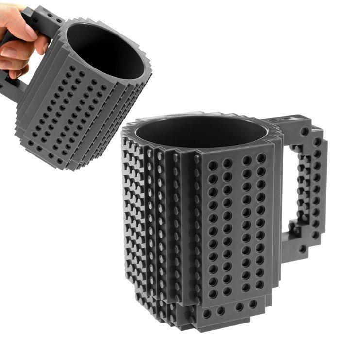Building Blocks Brick Mug - Black - - Yellow Octopus - Yellow Octopus