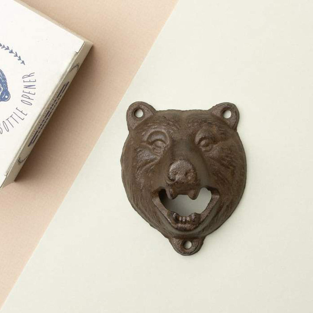 Cast Iron Bear Head Bottle Opener