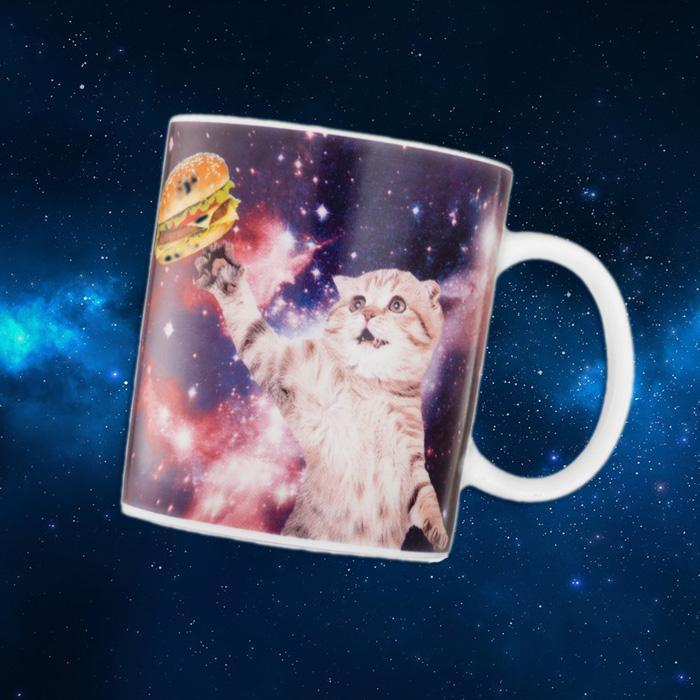 Cat In Space Mug - - Yellow Octopus - Yellow Octopus