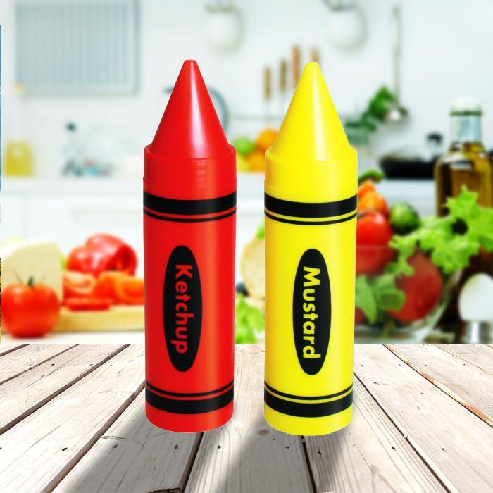 Condiment Crayons Sauce Dispensers - - Yellow Octopus - Yellow Octopus