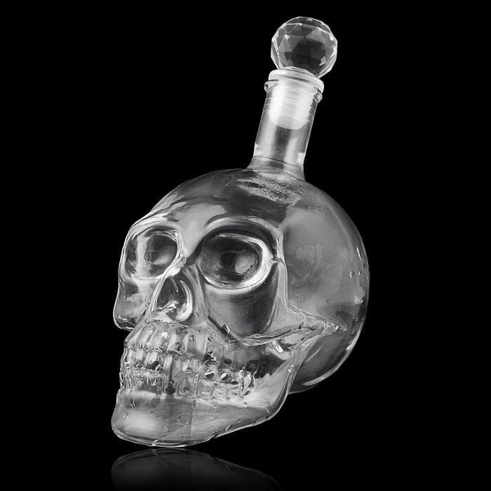 Crystal Skull Glass Decanter 550ml - - Yellow Octopus - Yellow Octopus