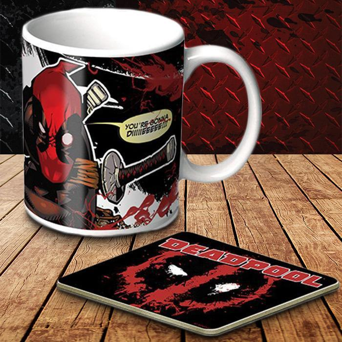 Yellow Octopus Deadpool Mug & Coaster Set