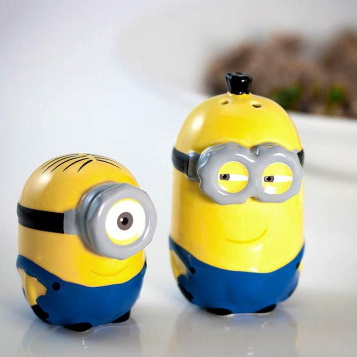 Yellow Octopus Despicable Me Minion Salt & Pepper Shakers