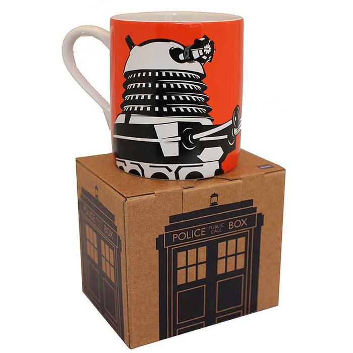 Yellow Octopus Doctor Who Dalek Mug | Orange