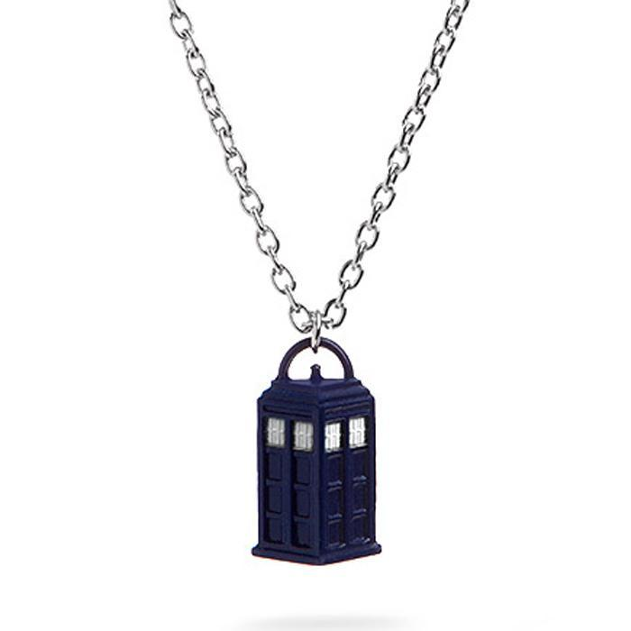Doctor Who TARDIS Necklace | BBC - - Yellow Octopus - Yellow Octopus