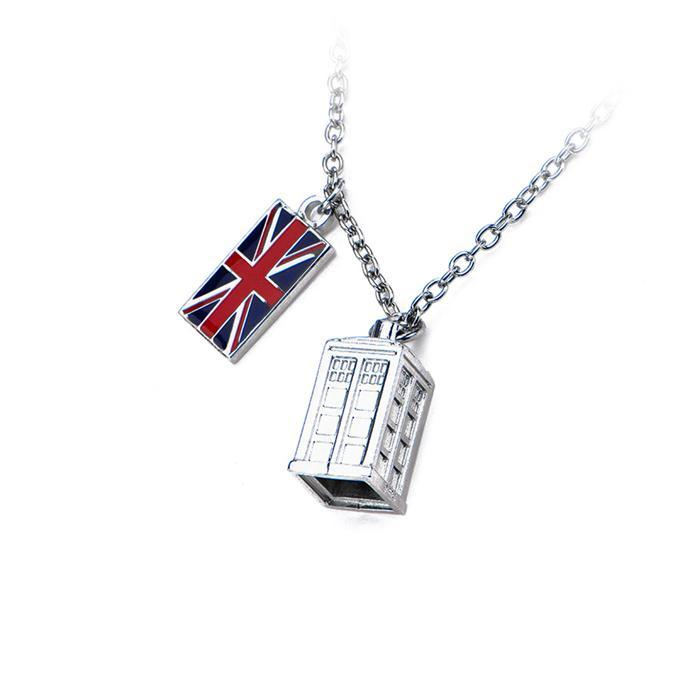 Doctor Who TARDIS & Union Jack Necklace | BBC - - Yellow Octopus - Yellow Octopus