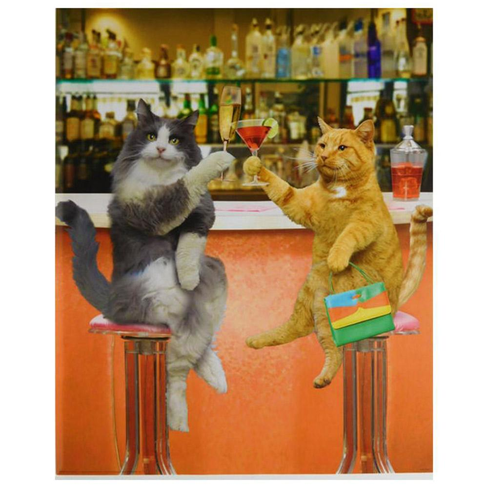 Cats Drinking Cocktails Poster 40 x 50cm