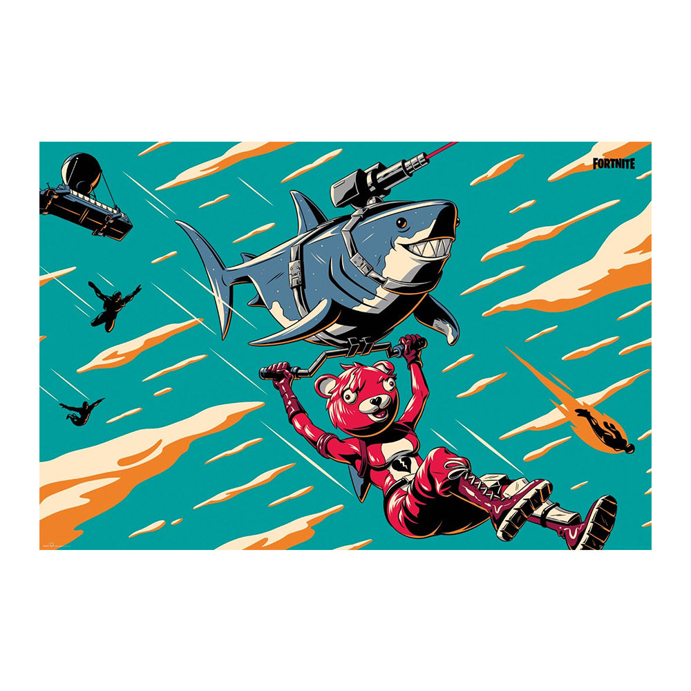 Fortnite Laser Chomp Glider Poster